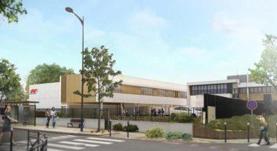 Construction de l'extension de l'ESCOM à Compiègne
